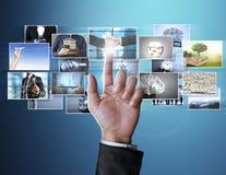 La foto digitale di previsione dell'uomo Fotografia Stock