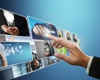La foto digitale di previsione dell'uomo Immagini Stock