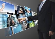 La foto digitale di previsione dell'uomo Fotografie Stock Libere da Diritti
