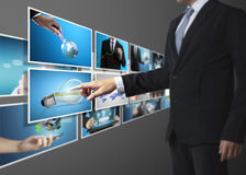 La foto digitale di previsione dell'uomo Fotografie Stock