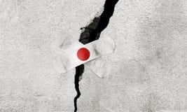 La foto ha manipolato l'idea per gli sforzi di salvataggio nel Giappone dopo il terremoto potente fotografie stock