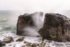 Roccia spaccata Fotografia Stock Libera da Diritti