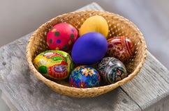 Uova di Pasqua casalinghe Immagini Stock Libere da Diritti