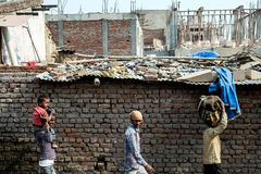 La foto schietta dell'uomo dell'India del locale Fotografia Stock