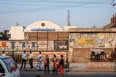 La foto schietta della vista della città di Delhi Fotografie Stock