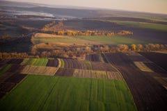 La fotografia aerea sistema misto con le foreste Immagine Stock Libera da Diritti