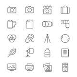 La fotografia assottiglia le icone Immagini Stock Libere da Diritti