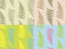 La fougère quatre botanique sans couture modèle la nature illustration libre de droits