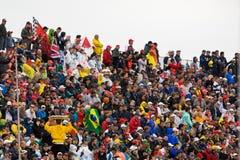 La foule au prix grand de Montréal Photo stock