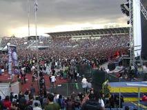 La foule aux roches de Sonisphere Sofia photographie stock libre de droits