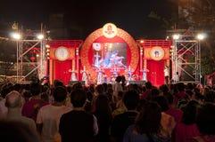 La foule dans la célébration chinoise d'an neuf Images libres de droits