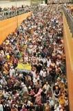 La foule des passionnés sikhs participent à Baisakhi Images stock