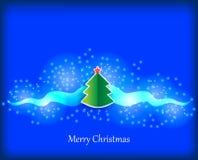 la fourrure de félicitations de Noël de carte de branchements joue l'arbre Photographie stock