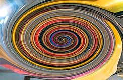 La fractale en spirale colorée avec la diagonale len la fusée photos libres de droits