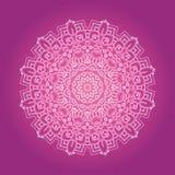 La fractale ethnique Mandala Vector Meditation de Psychodelic regarde le goût illustration stock