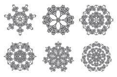 La fractale ethnique Mandala Vector Meditation ressemble au flocon de neige ou illustration libre de droits