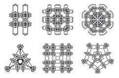 La fractale ethnique Mandala Vector Meditation ressemble au flocon de neige ou illustration stock