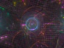La fractale numérique abstraite, belle future conception, font la fête de fête illustration libre de droits