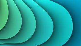 La fractale ondule le fond loopable abstrait 4K illustration stock