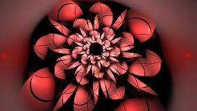 La fractale rouge de fleur rendent Photo stock