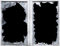 La fractura de cristal, casco, rompió, ventana, peligro Fotografía de archivo