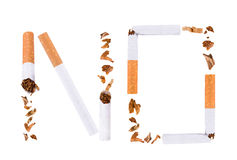 La fractura del cigarrillo, abandonó el fumar Imagenes de archivo