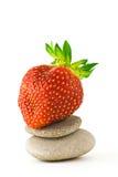 La fraise aiment le zen Photos stock
