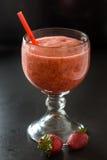 La fraise a frappé photo libre de droits