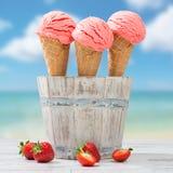 La fraise glace Images libres de droits