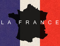La France. Banner of the french state, borders, and flag Stock Image