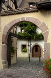 La France, Alsace, Riquewihr Photos stock