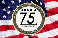 La France, anniversaire de jour J soixante-quinzième photo stock