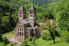 La France, l'abbaye romaine de Murbach en Alsace Photo stock
