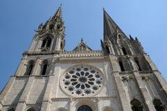 La France, la cathédrale de Chartres dans Eure et Loir photo libre de droits
