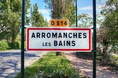 La France, les Bains d'Arromanches images libres de droits