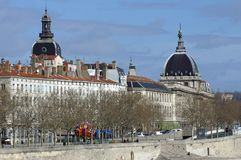 La France ; Lyon ; Lyon ; le vieux dôme d'hôpital image stock