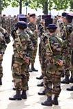 La France, Montpellier, victoire dans le défilé de jour de l'Europe photo libre de droits