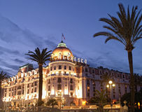 La France - Nice - hôtel Negresco Photographie stock