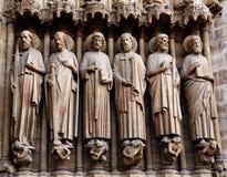La France, Paris : Cathédrale de Notre Dame Photos libres de droits