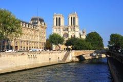 La France ; Paris : Cathédrale de Notre Dame Image libre de droits