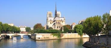La France, Paris : Cathédrale de Notre Dame Images libres de droits