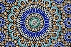 La France ; Paris ; creramic de la mosquée de Paris image stock