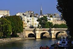 La France Paris : la vue de la La d'Ile de citent Photographie stock libre de droits