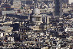 La France, Paris ; vue de ville de ciel avec le Panthéon Image stock