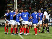 La France XIII contre l'Ecosse XIII Photo stock