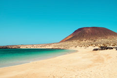 La Francesa Beach in La Graciosa, Canary Islands, Spain Stock Photos