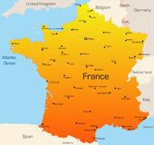 La Francia Fotografia Stock Libera da Diritti
