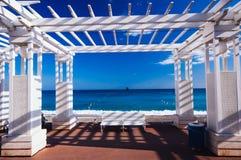 La Francia, Alpes Maritimes, Nizza, Promenade des Anglais Fotografie Stock Libere da Diritti