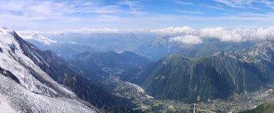 La Francia, catena montuosa Mont Blanc Fotografie Stock