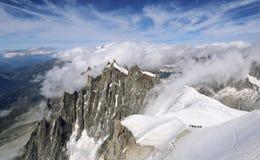 La Francia, catena montuosa Mont Blanc Immagini Stock